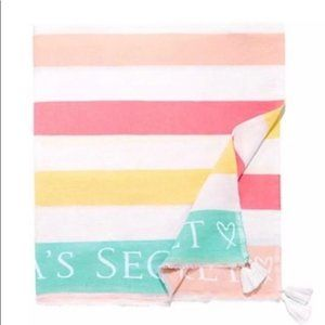 Victoria's Secret Pastel Blanket with Tassels